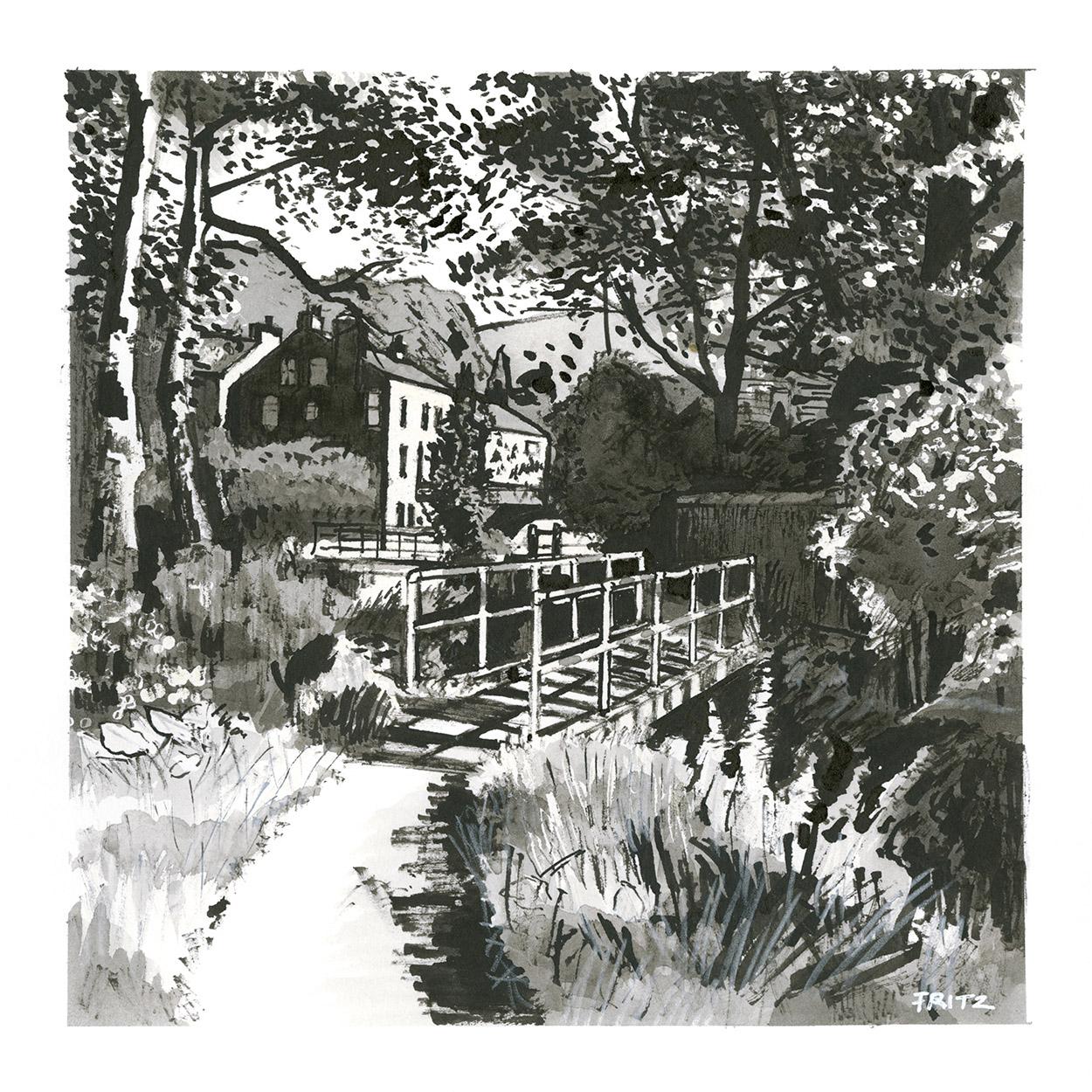 Chapel Garden Footbridge, Delph