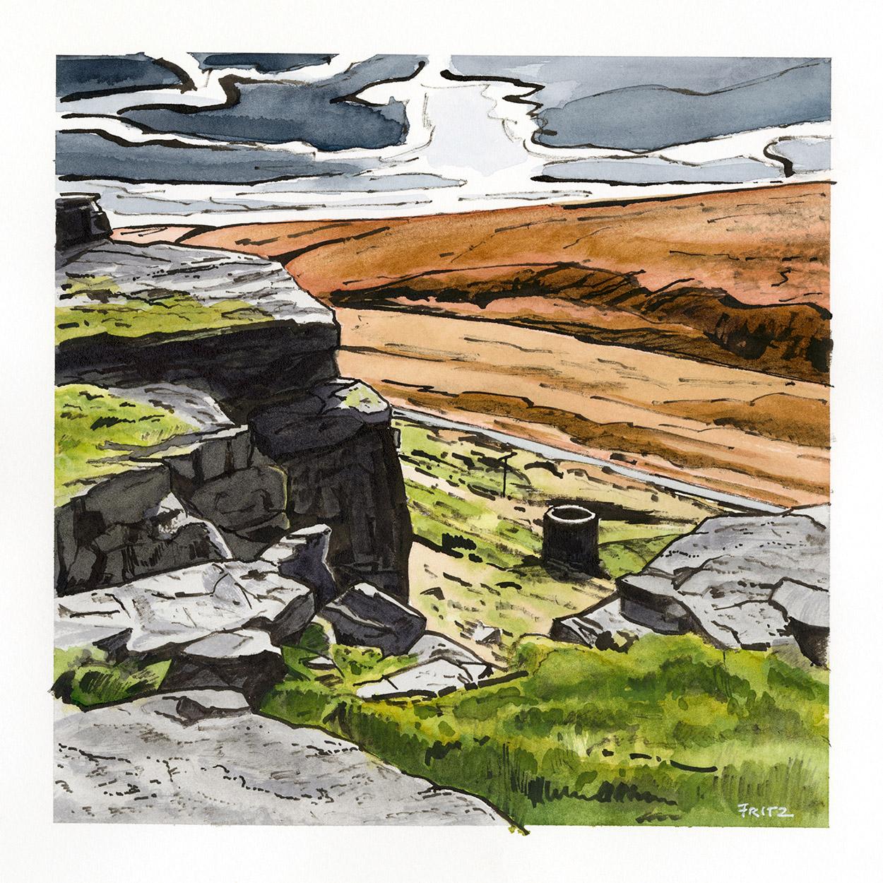 Original landscape drawings