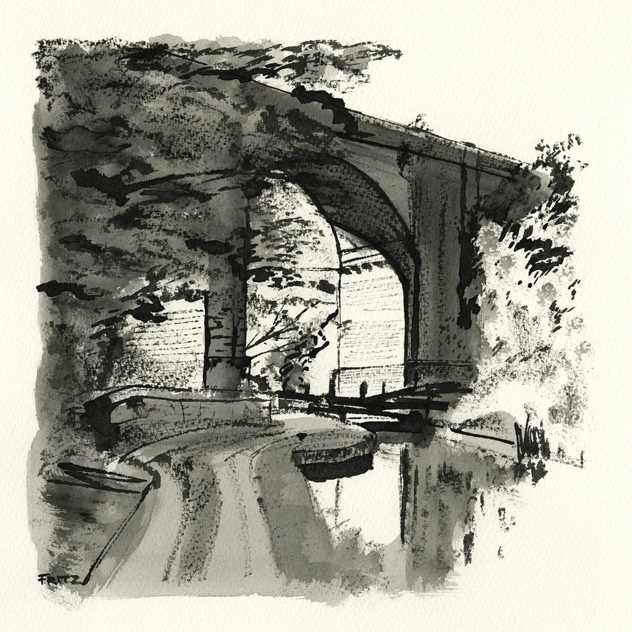 Saddleworth Viaduct - Lime Kiln Lock (23w)
